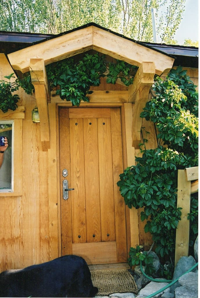 New covered front door for cabin..