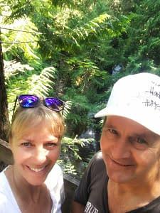 Bonnie and John hiking