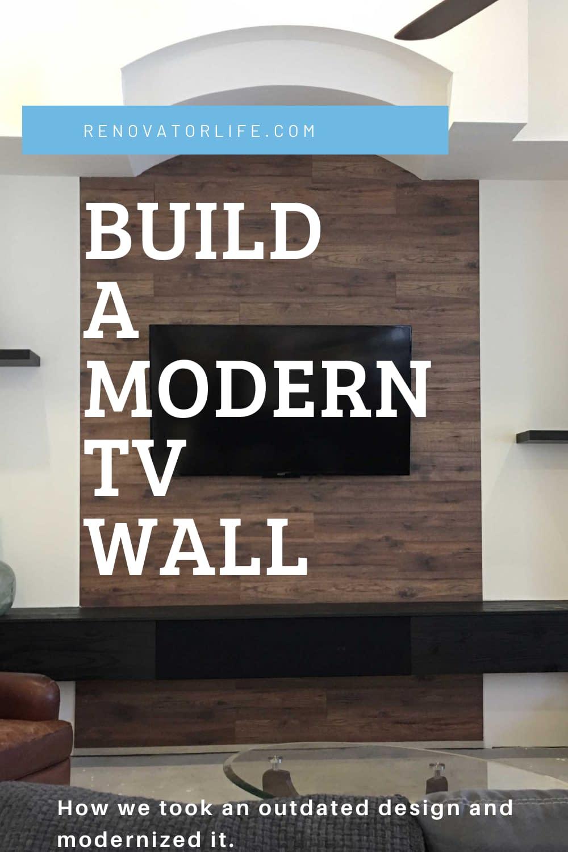 Build a modern tv wall