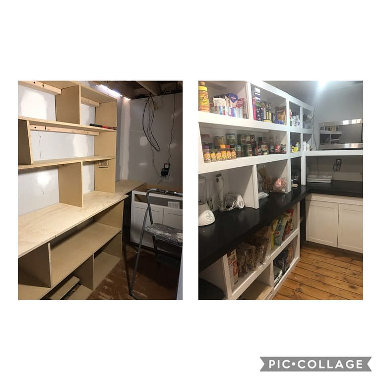 Building the kitchen pantry