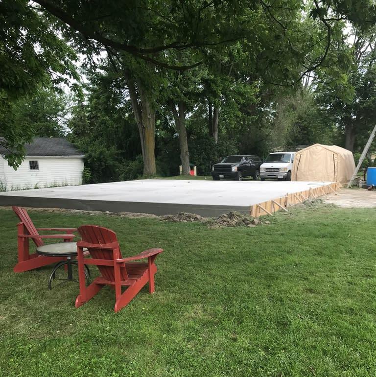 garage slab is ready