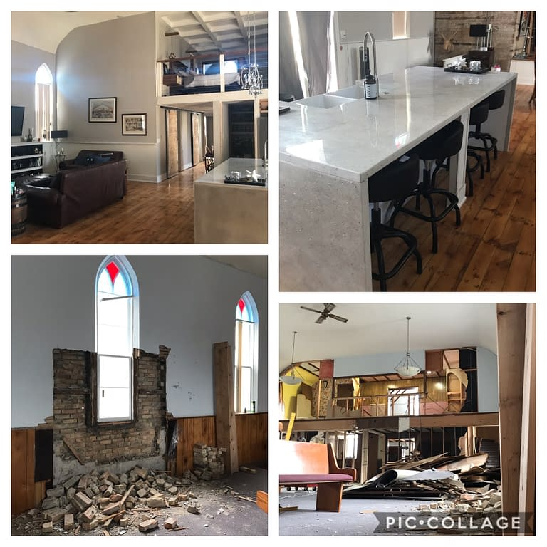 Church renovation before and after pictures
