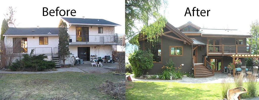 back of house before and after
