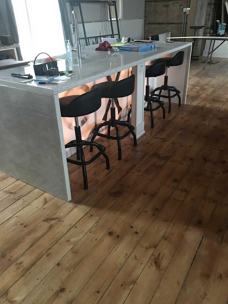 Finished kitchen island