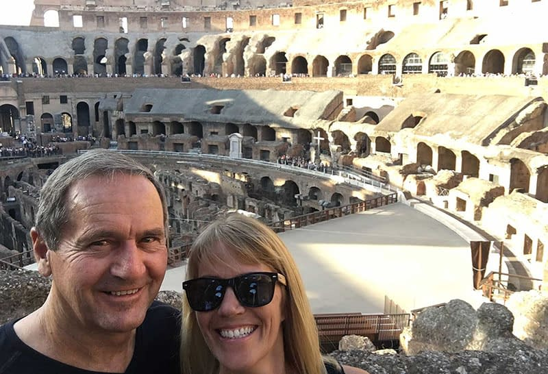 John and Bonnie in Rome