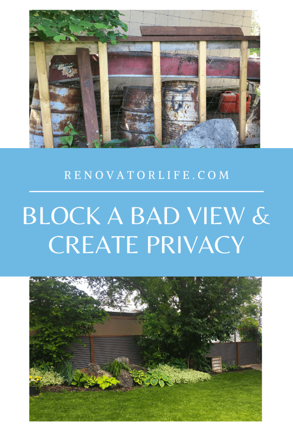 Block a Bad View & Create Privacy