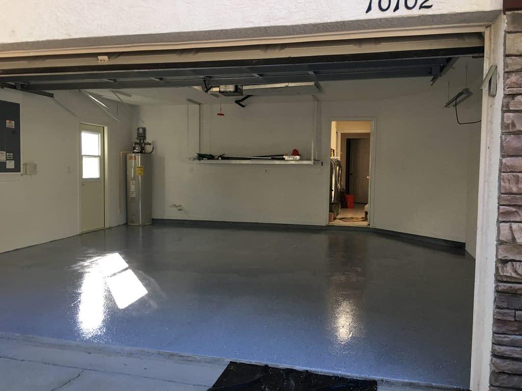 finished epoxy floor