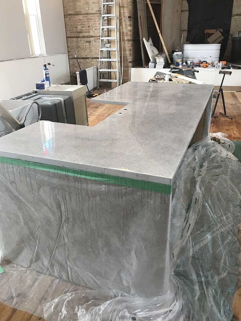 quartz look counter top